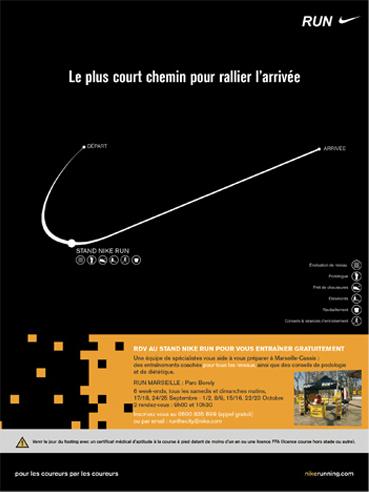 nike running - graphiste freelance Grenoble & Annecy