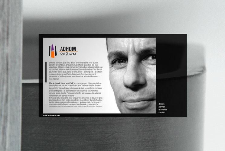 réalisation de site internet pour adhom design