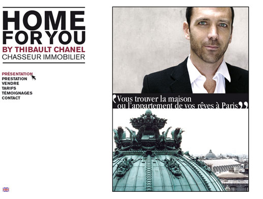 Home For you - Thibault Chanel - Proposition web design