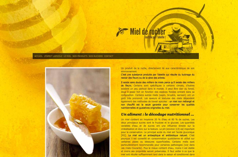 Conception et réalisation du site miel-de-rucher.fr